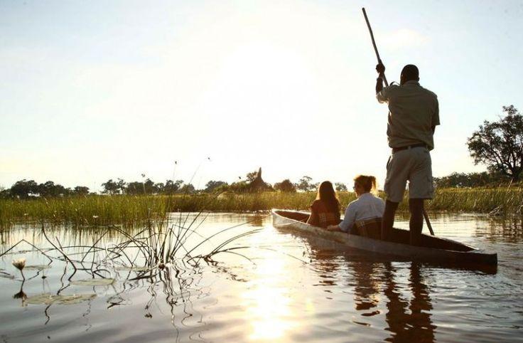 Sail away with me... on a mokoro canoe 🎶 More on Botswana: