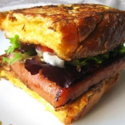 Hawaiian Spam Sandwich Recipe | Monte Cristo Spamwich - french toast and Spam sandwich