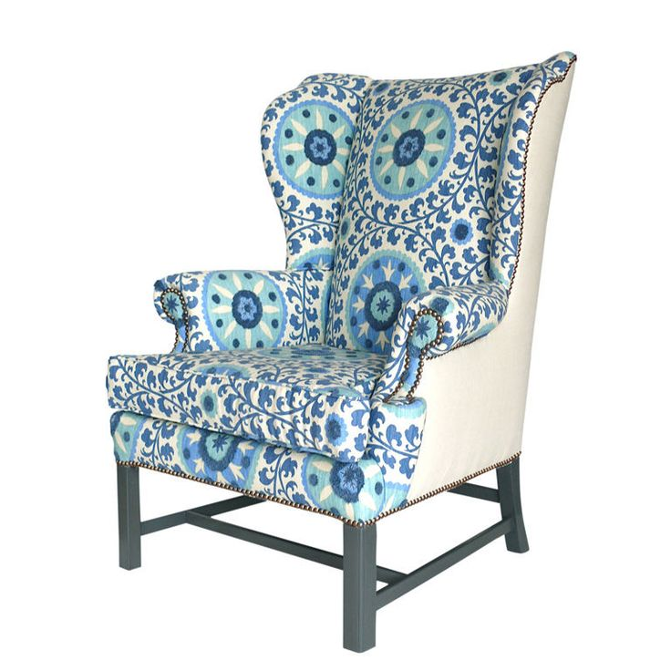 love this wingback chair as an accent piece
