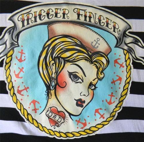 4X Torrid Lucky Thirteen Trigger Finger Stripe Pin Up Sailor Tattoo T Plus Top | eBay  http://www.ebay.com/itm/4X-TORRID-LUCKY-THIRTEEN-TRIGGER-FINGER-STRIPE-PIN-UP-SAILOR-TATTOO-T-PLUS-TOP-/160967304396?pt=US_CSA_WC_Shirts_Tops=item257a6624cc