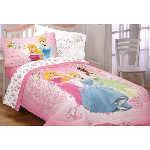 Disney Princess Your Royal Grace Twin Comforter Sheet Wall Decals Gems Combo Set- Love the Gems that come with this to embellish furniture, etc. $99