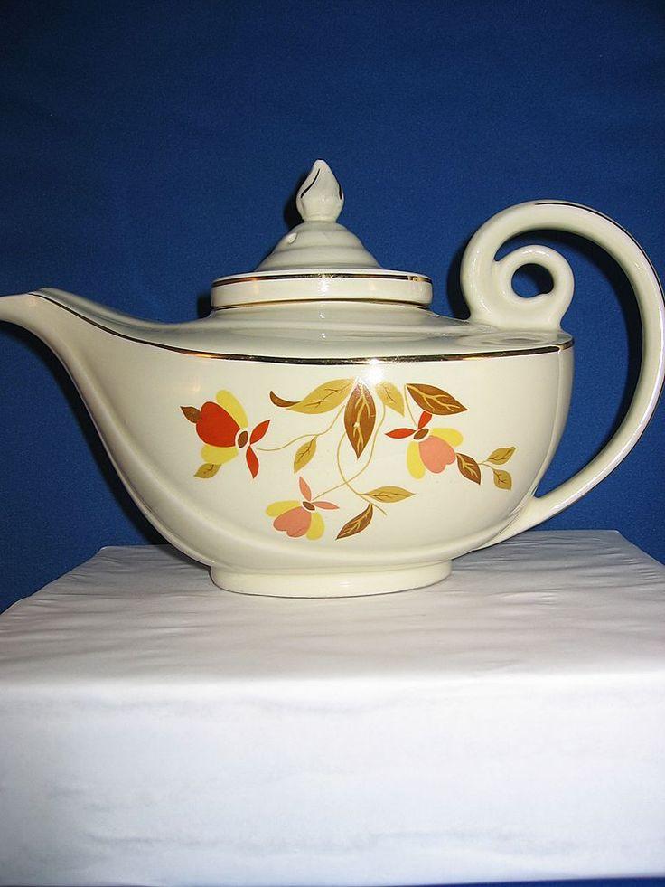 Jewel Tea Autumn Leaf : jewel, autumn, Hall's, Jewel, Autumn, Aladdin, Dishes,, Pots,