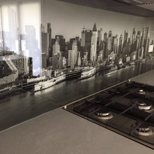 Glass Printed Kitchen Splashback Photography Cityscape