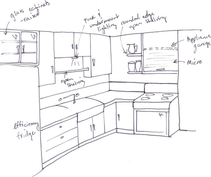 Concept Layout Rough Sketch Kitchen Kitchen Design Pinterest Sketches And Kitchens