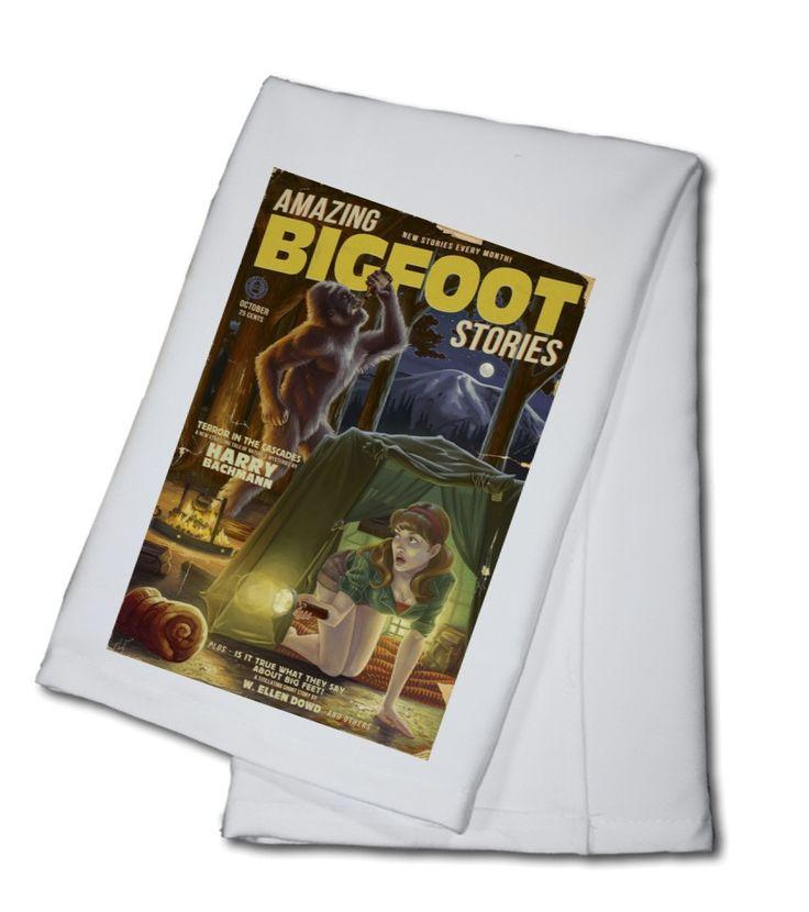 Towel (Amazing Bigfoot Stories - Lantern Press Artwork)