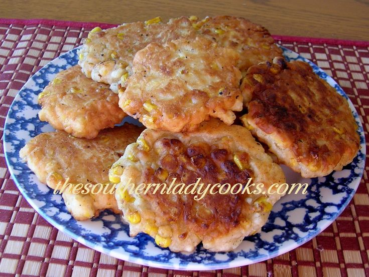 COUNTRY CORN FRITTERS-July 16 is National Corn Fritter Day. These are good for breakfast with honey or molasses or with any meal anytime.