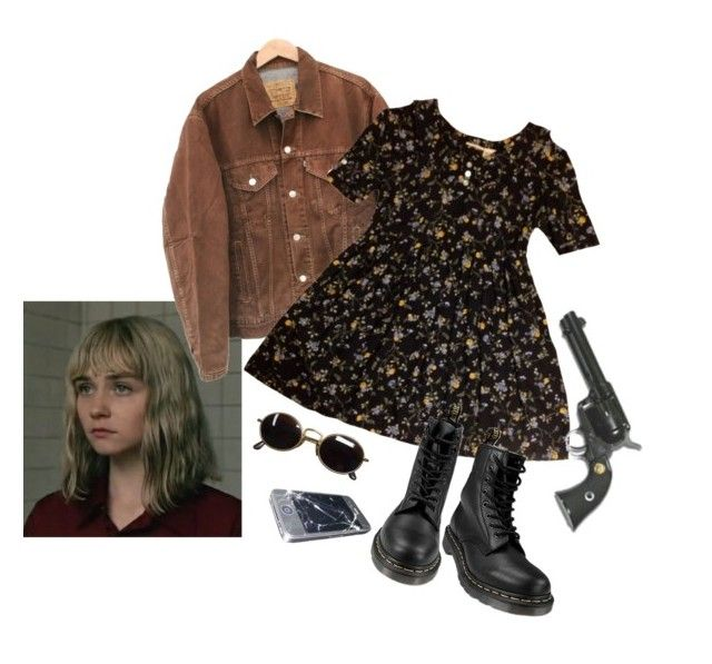 """""""alyssa"""" by silkwitch on Polyvore featuring Levi's, Dr. Martens and Giorgio Armani"""