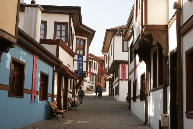 Odunpazari Eskisehir Turkey ( architectural examples of old Turkish houses )