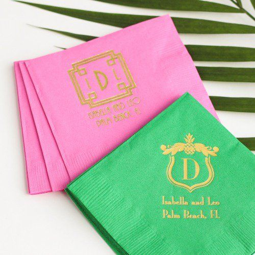 Personalized Exclusive Bridal Napkins by Beau-coup