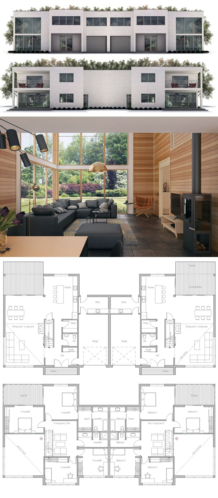 Duplex House Plan Great pin For