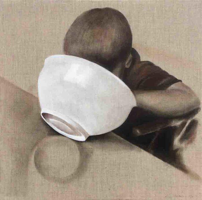 Rakkauksia, Ahne, öljy kankaalle, 90x90, 2016