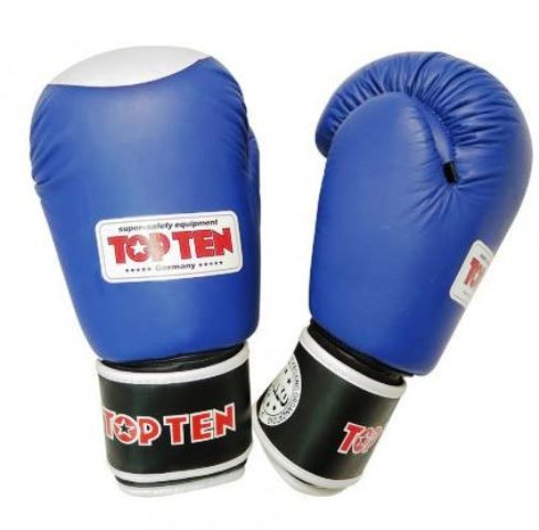 TopTen 10oz Competition gloves in Red and Blue - WAKO approved