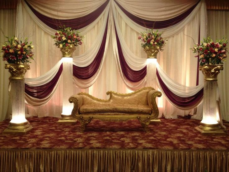 Best 25 wedding stage backdrop ideas on pinterest for Background decoration for indian wedding