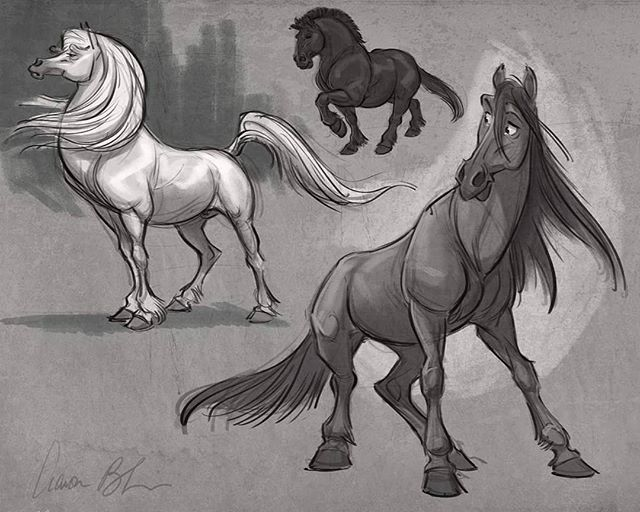 Killing time with some horse characters. #horses #characterdesign #howtodrawhorses