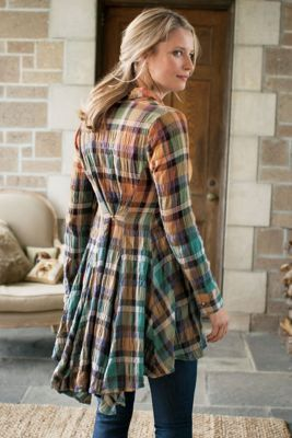 Artist Shirt - Plaid Tunic, Swing Tunic | Soft Surroundings
