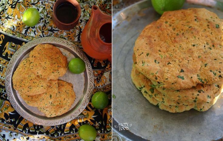 Лепешки с кинзой в индийском стиле