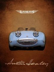 Austin Healey Posters - Austin Healey Sprite Poster by Mark Rogan