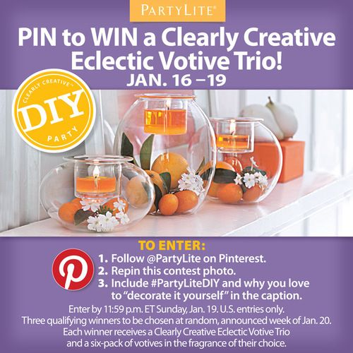 "Pin to Win with PartyLite ""Decorate It Yourself"""