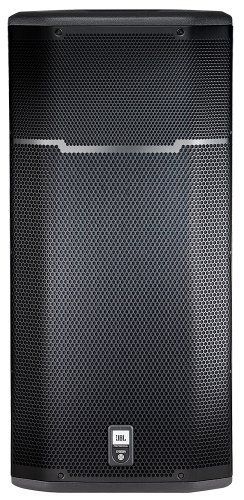 "JBL PRX635 1x15 3-Way 1500-Watt Powered Loudspeaker, Single Speaker by JBL. $1099.00. 15"" three-way self-powered speaker system; 1500 Watt (3x 500 watt) Crown® class D amplifiers. DSP-featured input section with selectable EQ. 15"" Differential Drive® woofers, 6.5"" horn loaded mid range and a 1"" neodymium compression driver. DuraFlex™-covered, 18mm plywood enclosure, 16 gauge foam backed steel grille, die-cast metal handles, single 36 mm pole socket, non-skid rubber feet. Lig..."