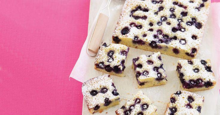 Blueberry friand slice