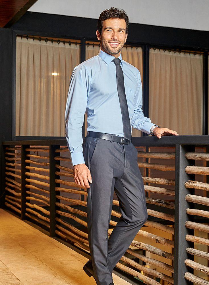 Pantalón de vestir Manchester gris con estampado y corte regular ideal para  el día a día en el trabajo bfab181cfa9