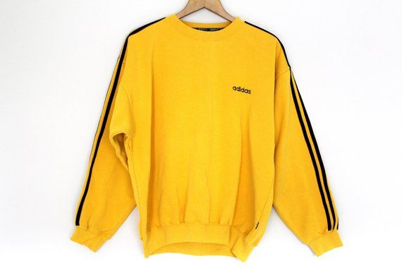 Me preparé raíz Peaje  Yellow Black ADIDAS Sweatshirt Vintage Adidas Jumper Hip Hop   Etsy   Adidas  sweater, Vintage sweatshirt, Adidas jumper