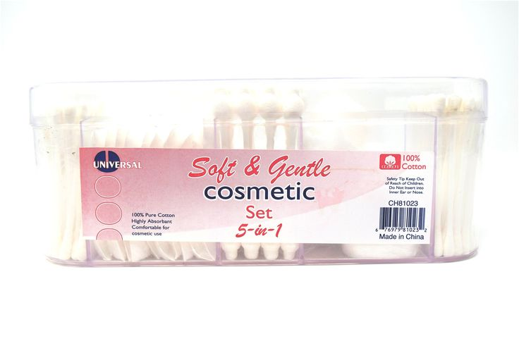 Universal Soft & Gentle Cosmetic Set (Transparent Clear), 5-in-1