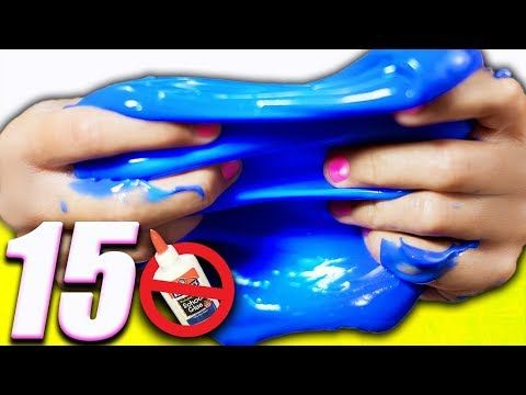 Slime without Glue 8 ways! Testing No Glue Slime Recipes! Slime how to with water and more! - YouTube