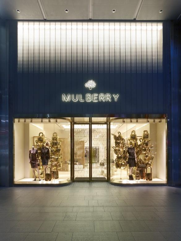 Inspiring Window Design At Mulberry Flagship Store Singapore