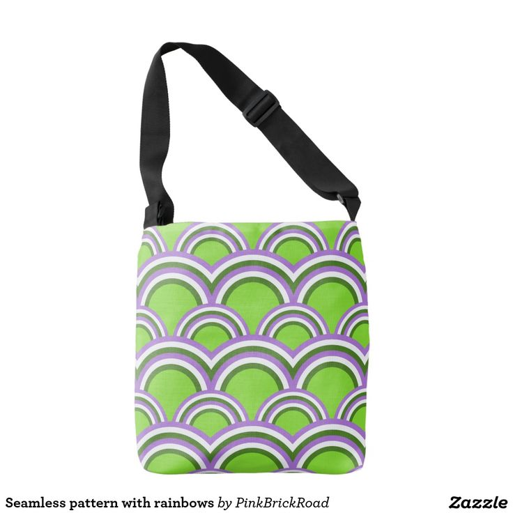 Seamless pattern with rainbows tote bag
