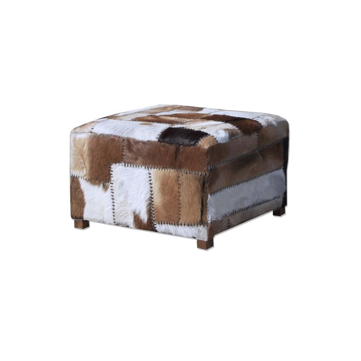 Pouf goat Leather square (7037)