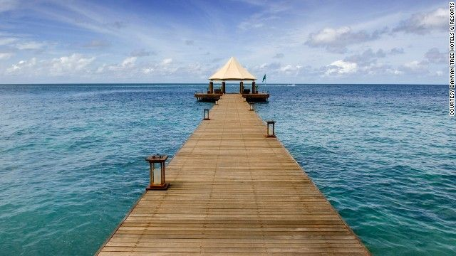 In the Maldives, the Banyan Tree Madivaru is offering a special whole-island rate through late September of $9,420 per night for up to 12 people, with a minimum four-night stay.