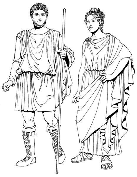 Женский римский костюм