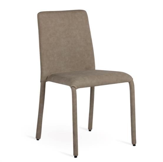Sedia in metallo impilabile rivestita interamente