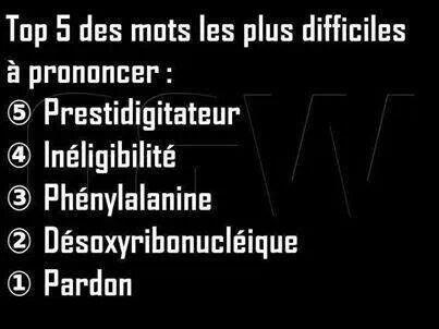 Number 1 du top : Pardon !!  #quote #positive #top #word #mots
