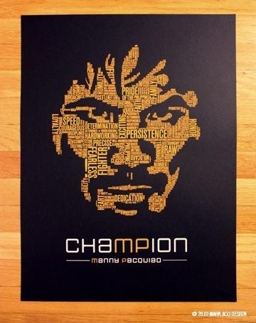 "Mark Aco's ""chaMPion"" print of Manny Pacquiao"