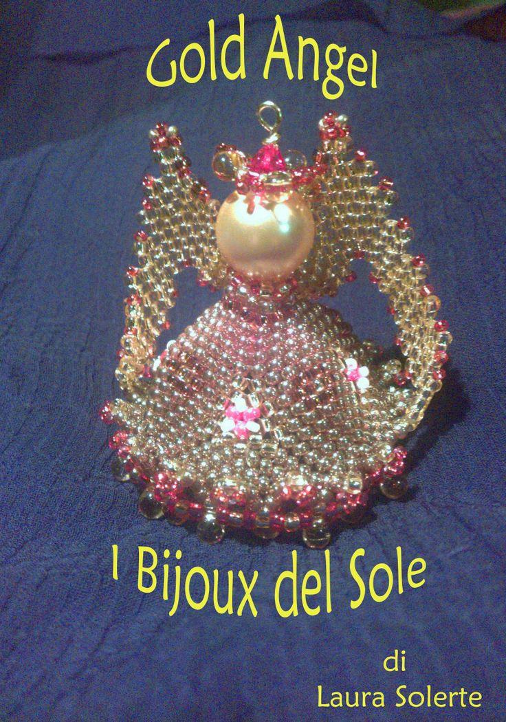 THE WINNER of the Preciosa inspiration Cristmas Contest 2013 : my pendant Gold Angel.  Laura Solerte copyright 2013