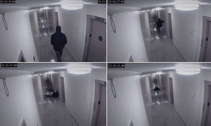 """Spine-chilling video of ghost 'knocking a man to the floor' - """"It's a demon not ghost!"""""""