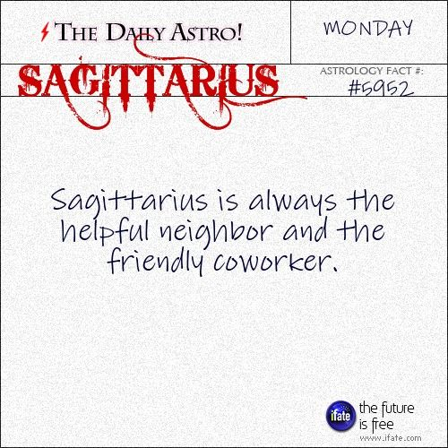 Daily astrology fact from The Daily Astro! Check your Sagittarius horoscope now.  Visit iFate.com today!