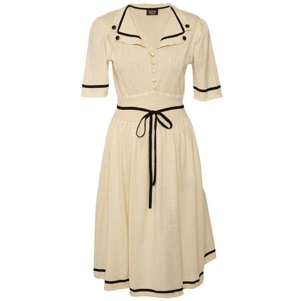 Summer Cotton Tea Dress ❤ liked on Polyvore featuring dresses, summer dresses, summer tea dresses, tea dress, brown dress and cotton day dresses
