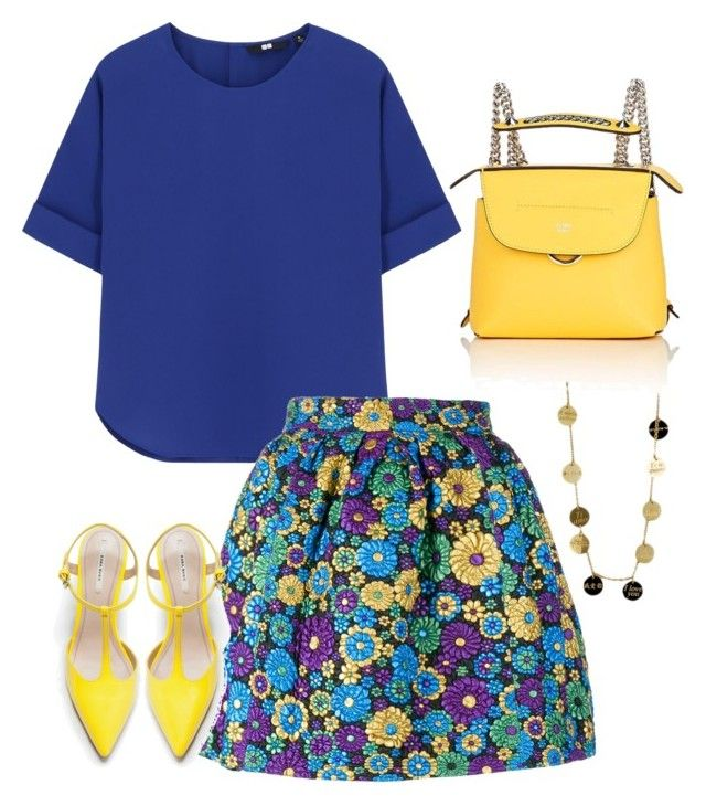 """""""Untitled #877"""" by izzystarsparkle ❤ liked on Polyvore featuring Uniqlo, House of Holland, Zara, Roberto Coin and Fendi"""
