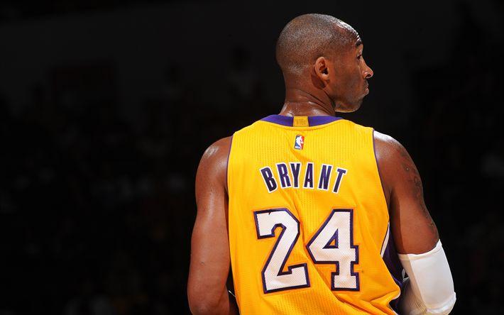 Descargar fondos de pantalla Kobe Bryant, de Los Lakers de Los Angeles, el baloncesto, el 4k, la NBA, el jugador de baloncesto Estadounidense, estados UNIDOS