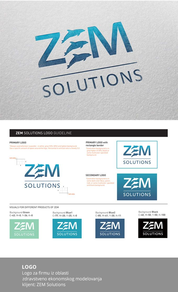 LOGO DESIGN // zem solution Design Pogon Studio Logo