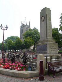 Ilkeston - Ilkeston Cenotaph and St Mary's Church © Grant Shaw