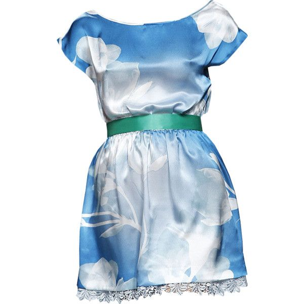 Elio Berhanyer - edited by Satinee ❤ liked on Polyvore featuring dresses, vestidos, платья, vestiti, abiti and blue dress