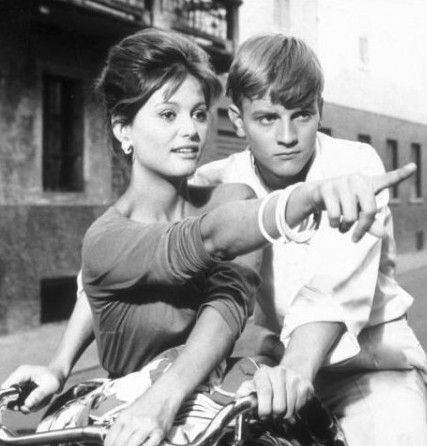 Claudia Cardinale and Jacques Perrin in Girl with a Suitcase (1961)