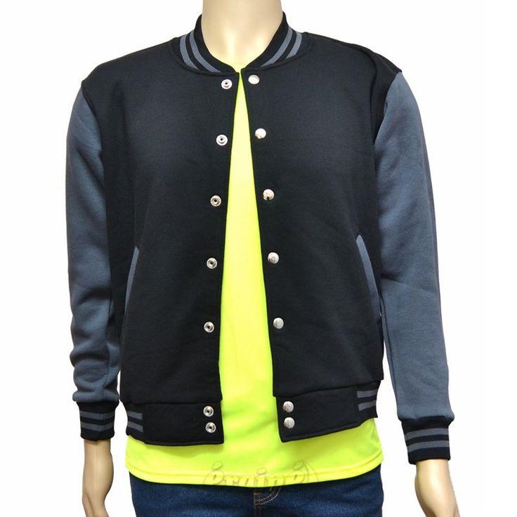 Varsity Jacket Black Dark Grey