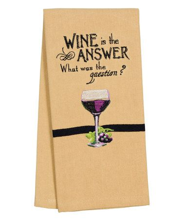 Loving this 'Wine is the Answer' towel
