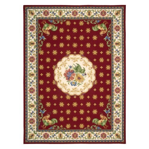 Nourison Country Heritage H301 Area Rug   Red
