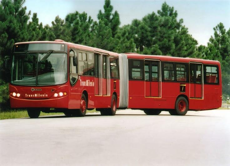 Bus Articulado de TransMilenio modelo Scania
